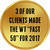 "3 of our clients made the WT ""Fast 50"" for 2017"